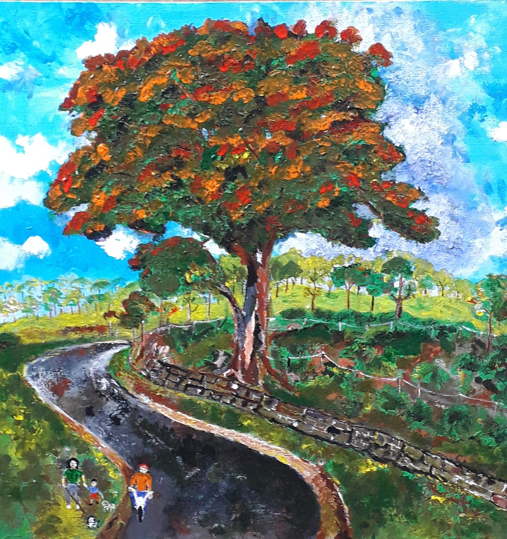 Colorful Tree - And Family Walk by Simpson David