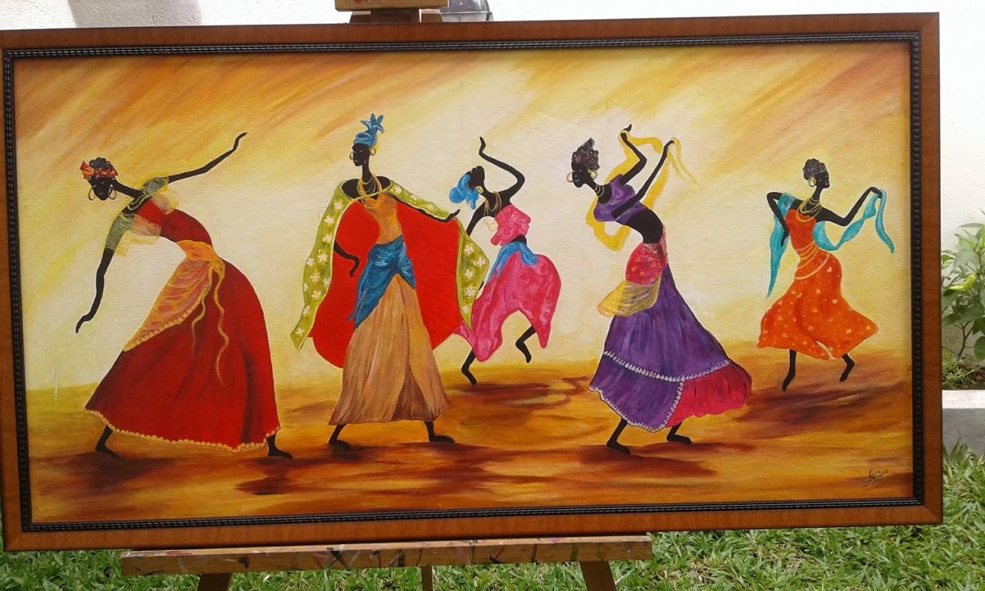 Dancing Ladies by Iranganie Wickramasinghe