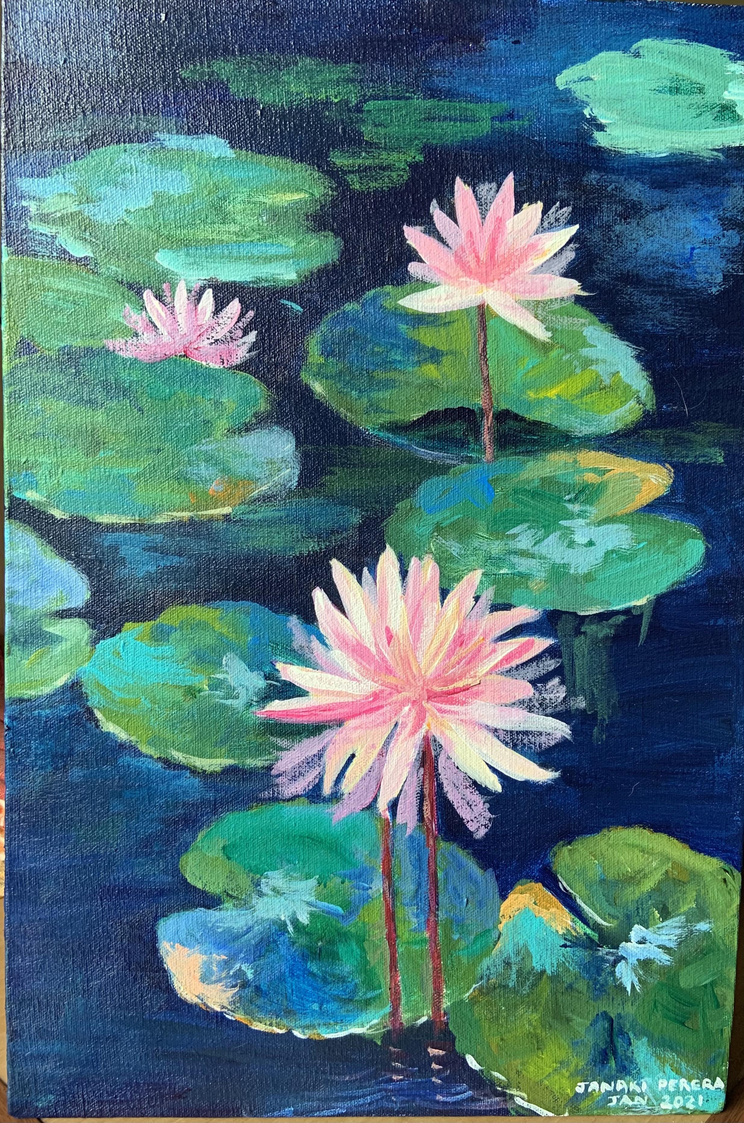 Lotuses, Sri Lanka by Janaki Perera