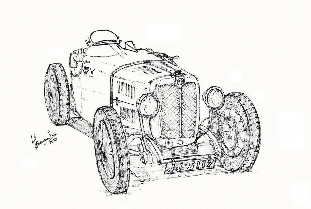 MG J Type Special by Lahiru Karunaratne
