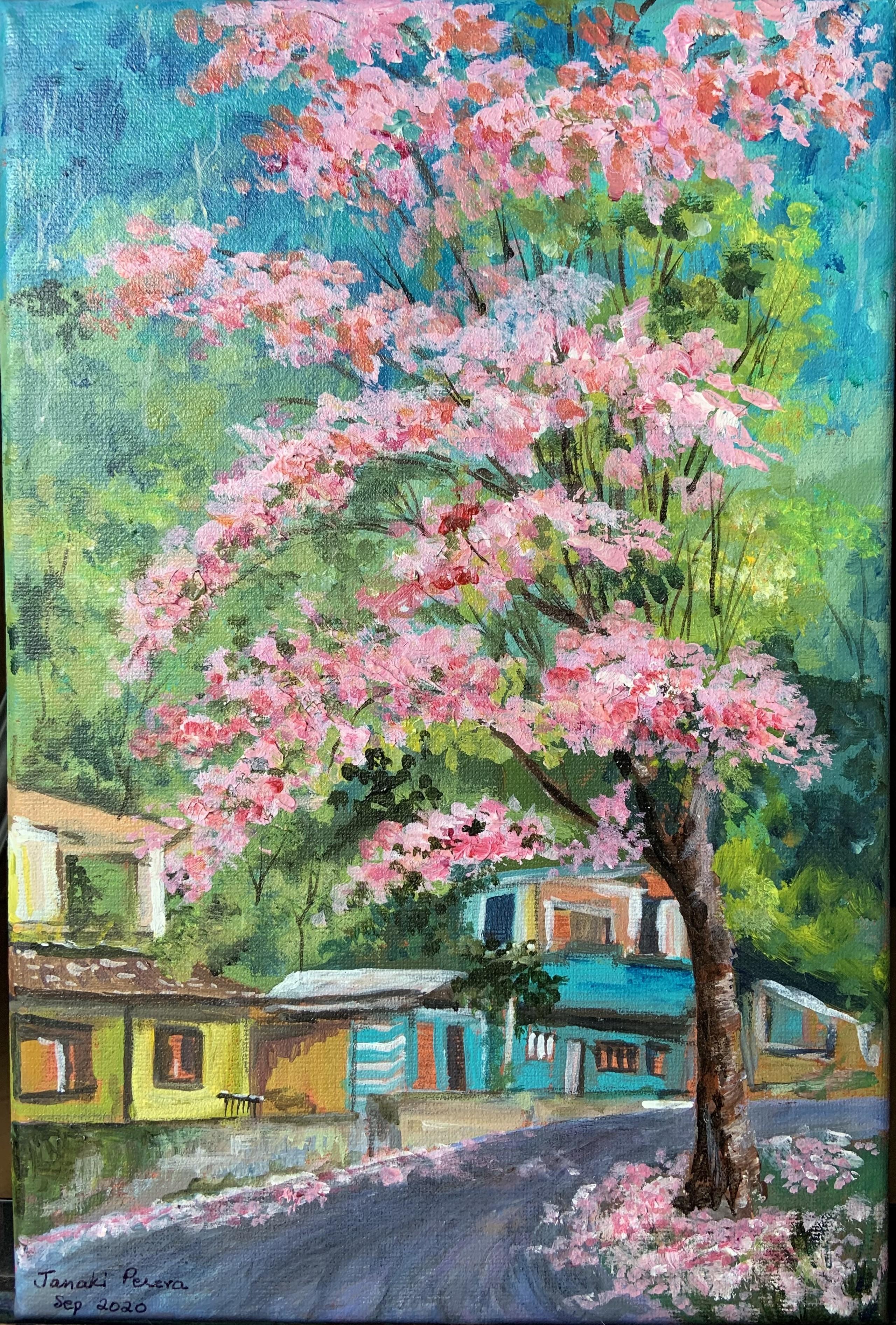 Kandy in April by Janaki Perera