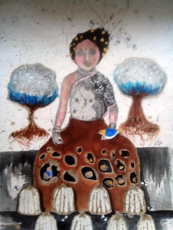 Gypsy fortune teller by Nihal Senarathna