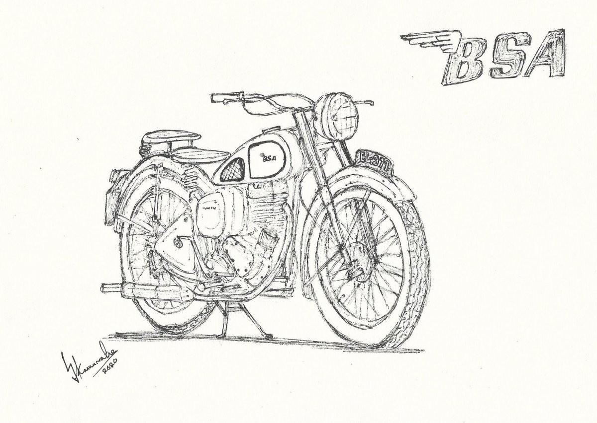 1949 BSA C11 by Lahiru Karunaratne