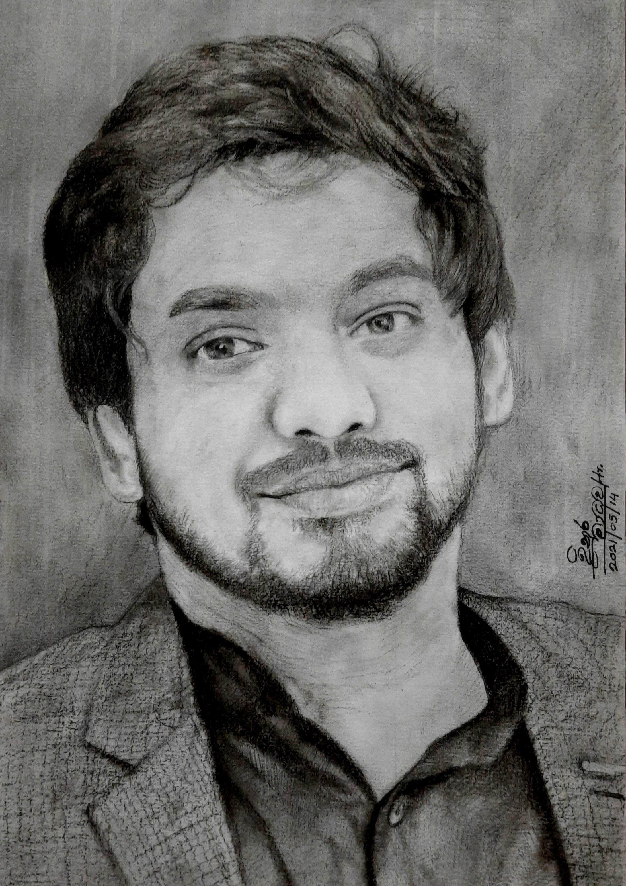 Portrait art-Ridma Weerawardena by Dinura Madhawa