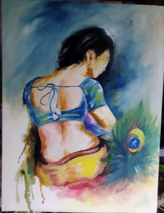 The lady by Asoka weerasighe