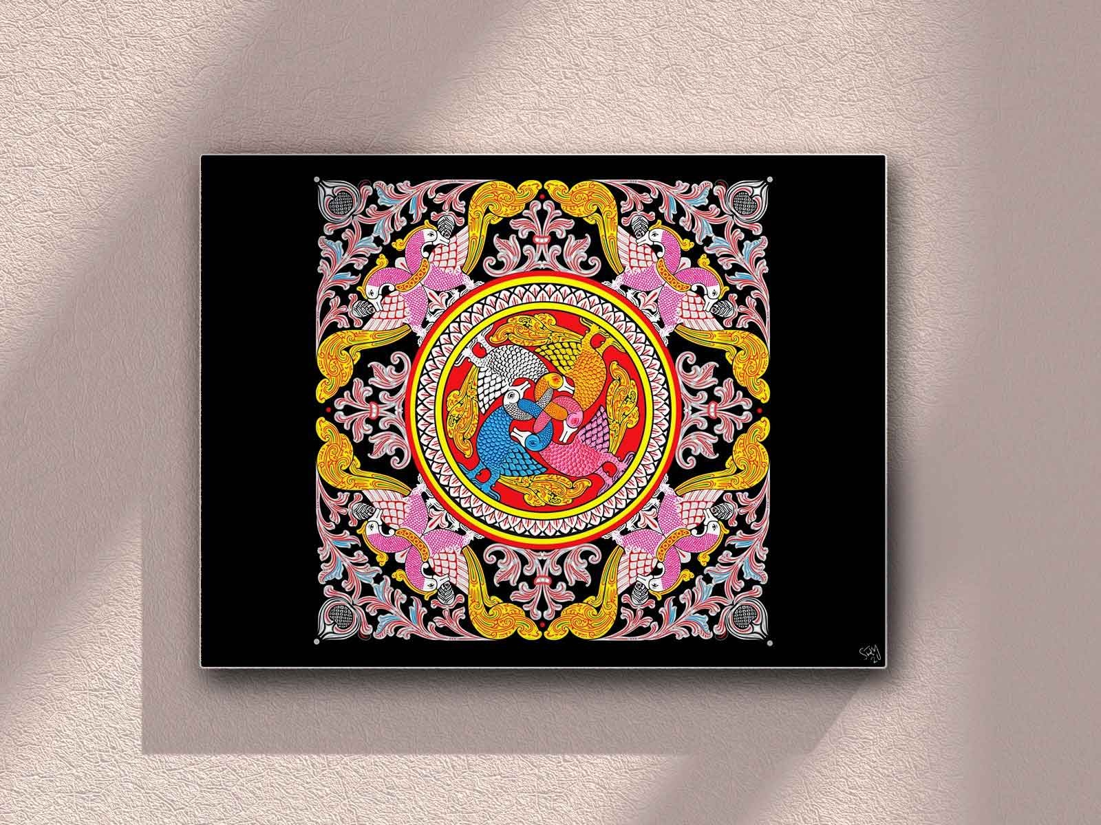 kandyan paintings by THARINDU SAMPATH SIRIWARDANA