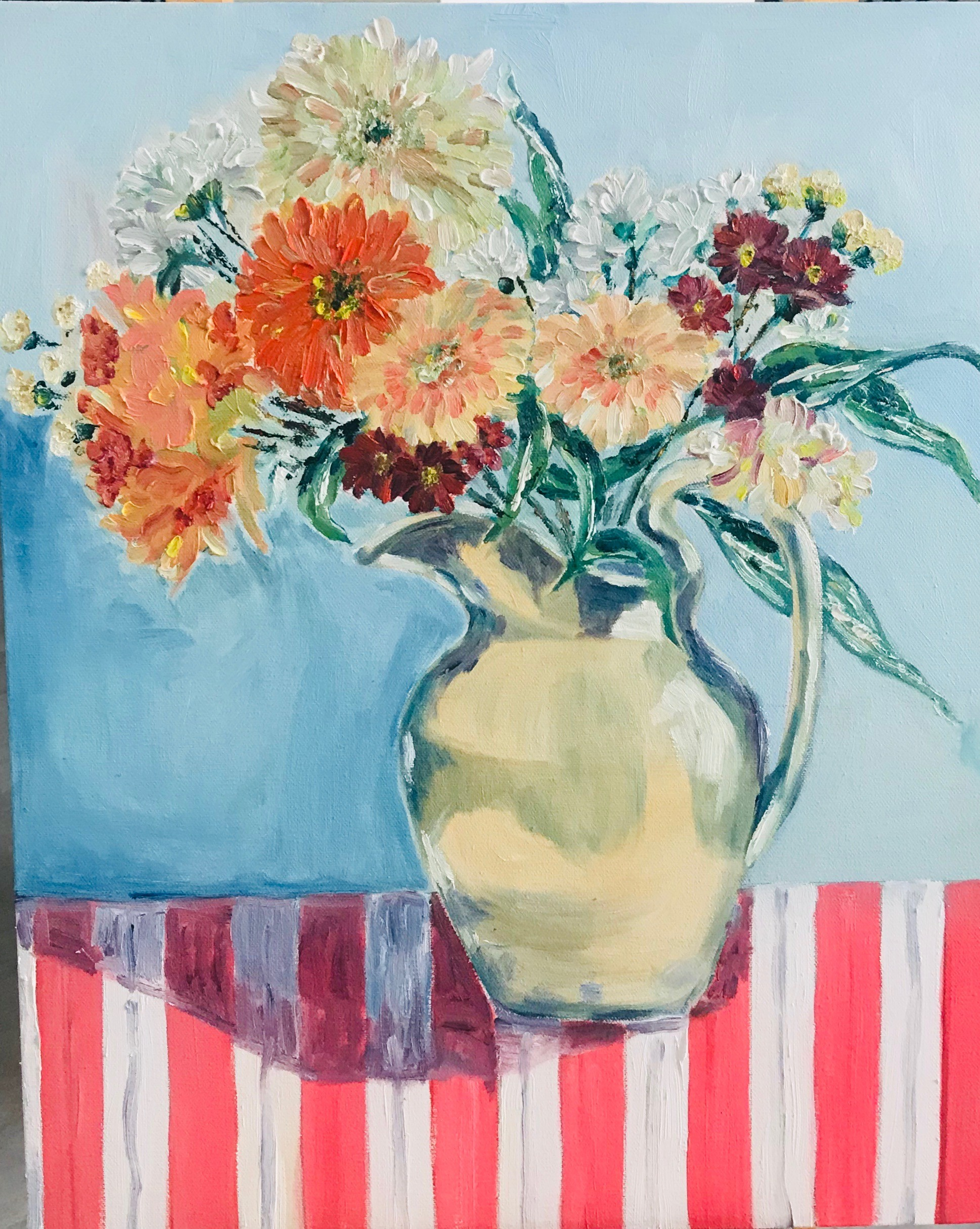 Flowers  in a pitcher by Thilini De Simon