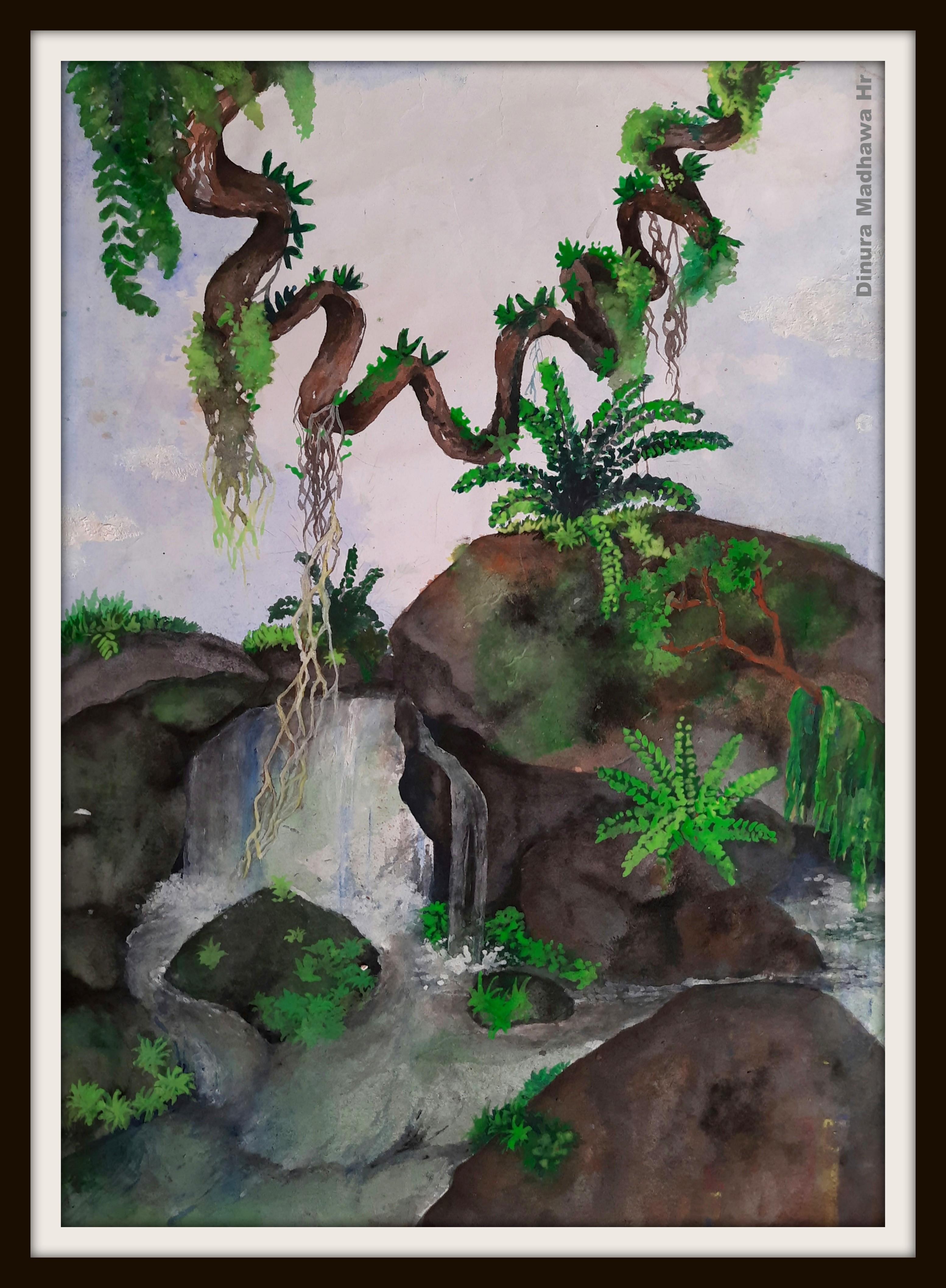A waterfall in my mind by Dinura Madhawa