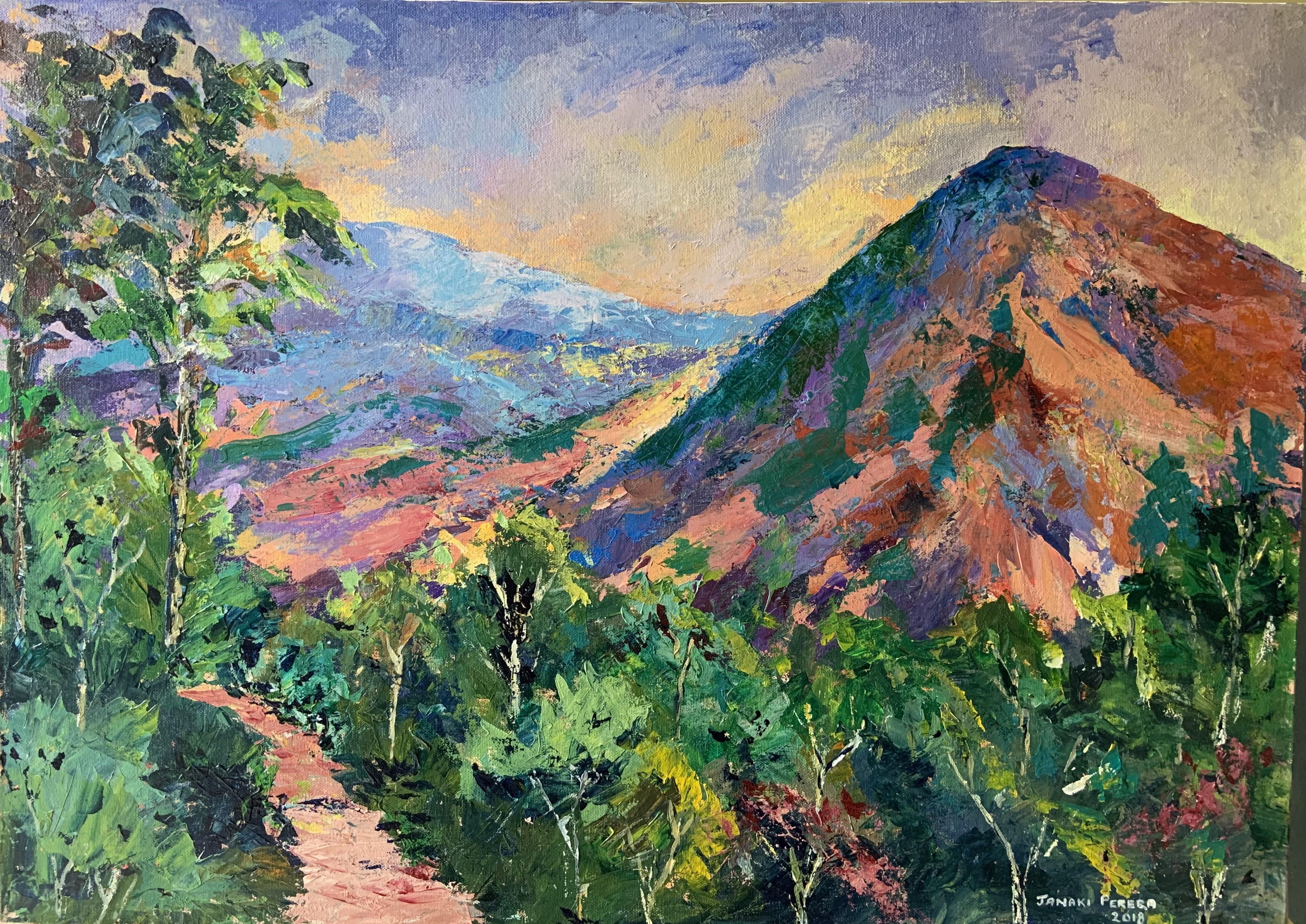 Path along Knuckles range by Janaki Perera