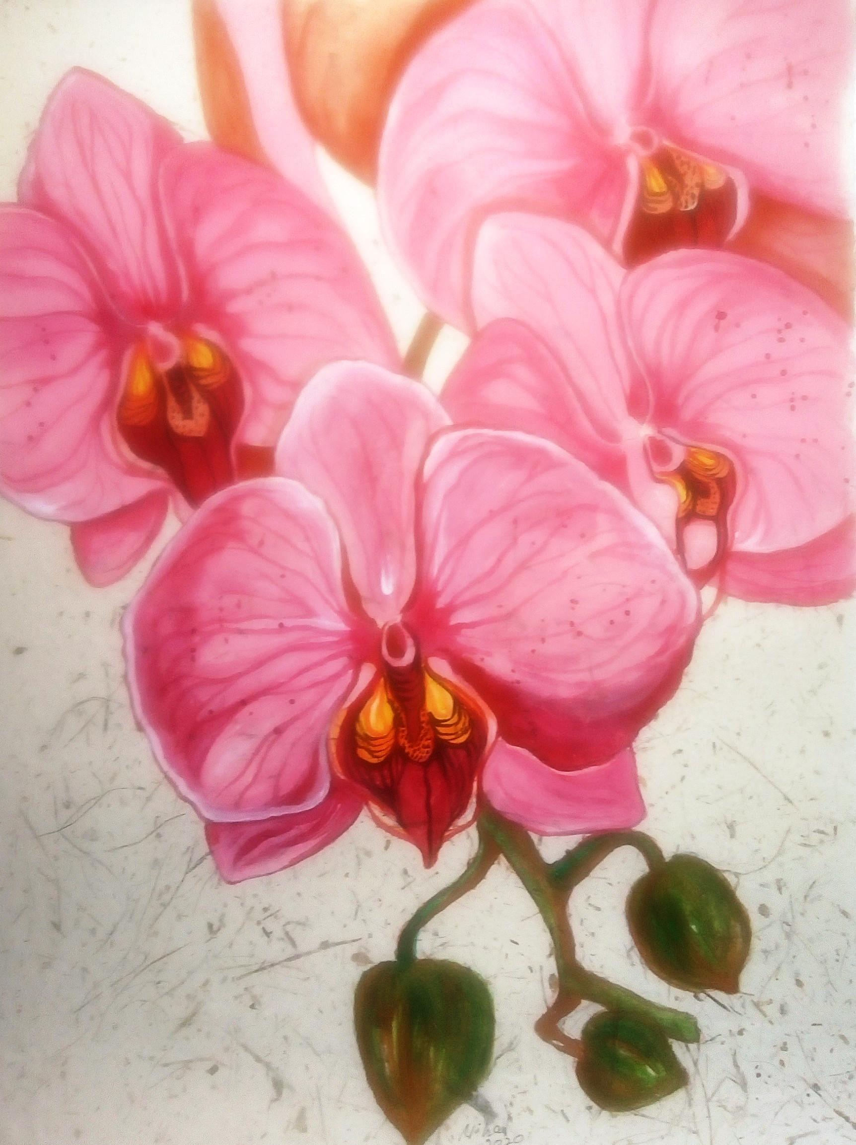 Vintage orchids by Nihal Senarathna