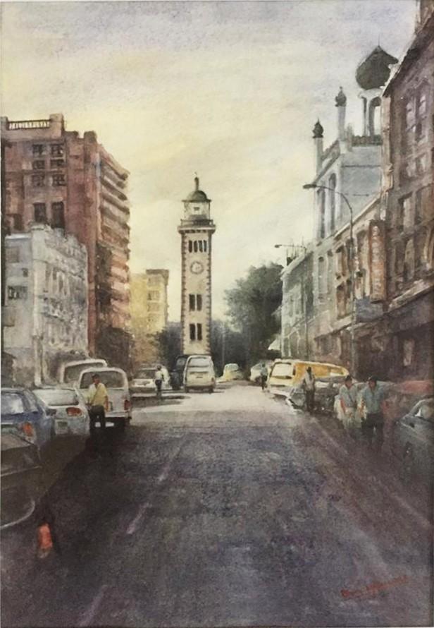 Colombo lighthouse-clock tower by RUWAN MAHINDAPALA