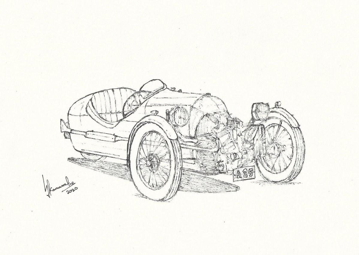 1918 Morgan V-Twin Three Wheeler by Lahiru Karunaratne