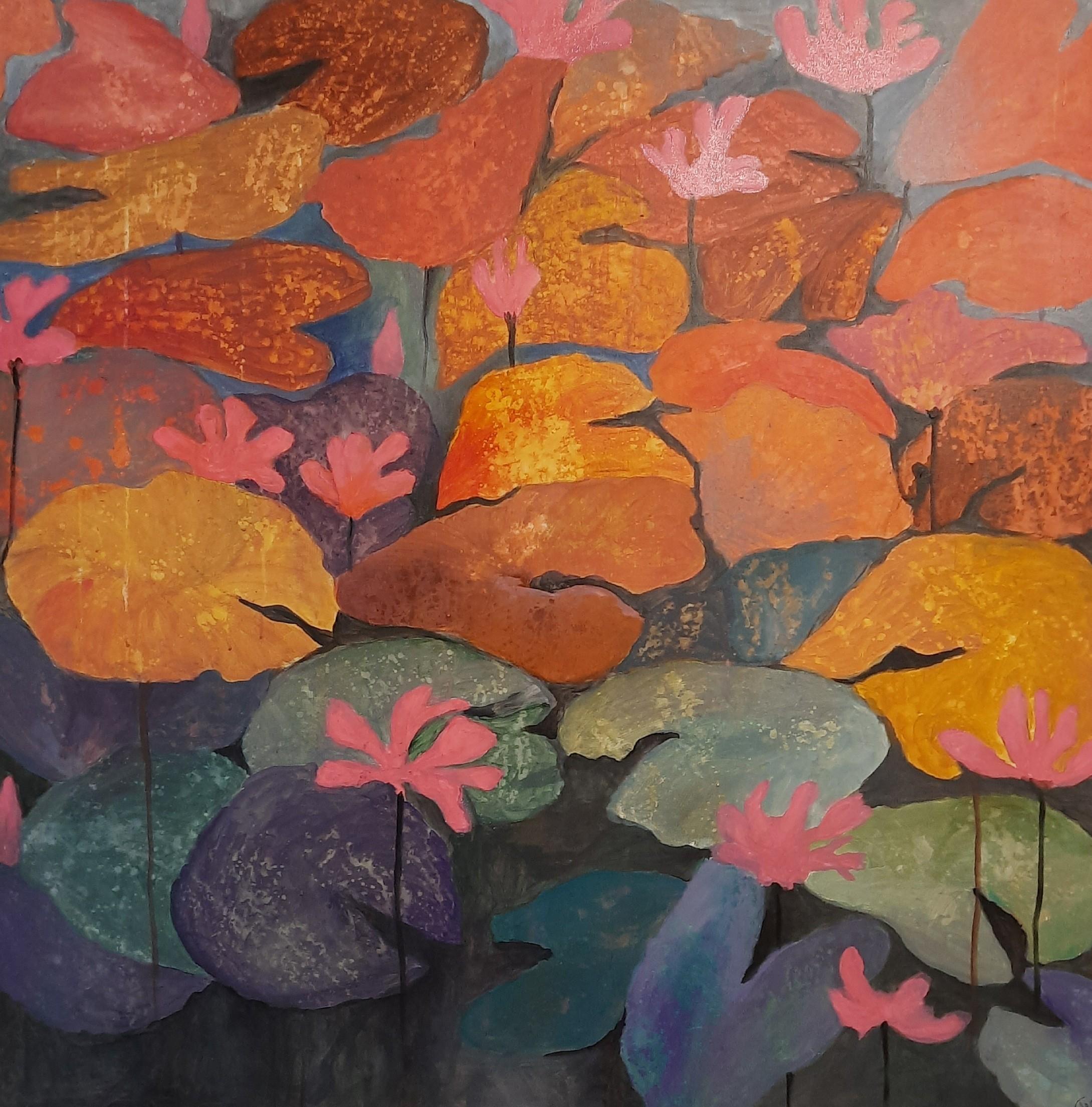 Water lilies by Jean wijesekera
