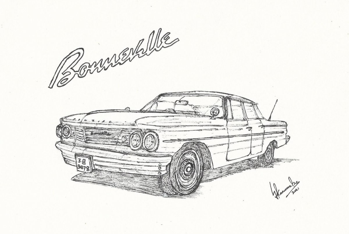 1959 Pontiac Bonneville by Lahiru Karunaratne