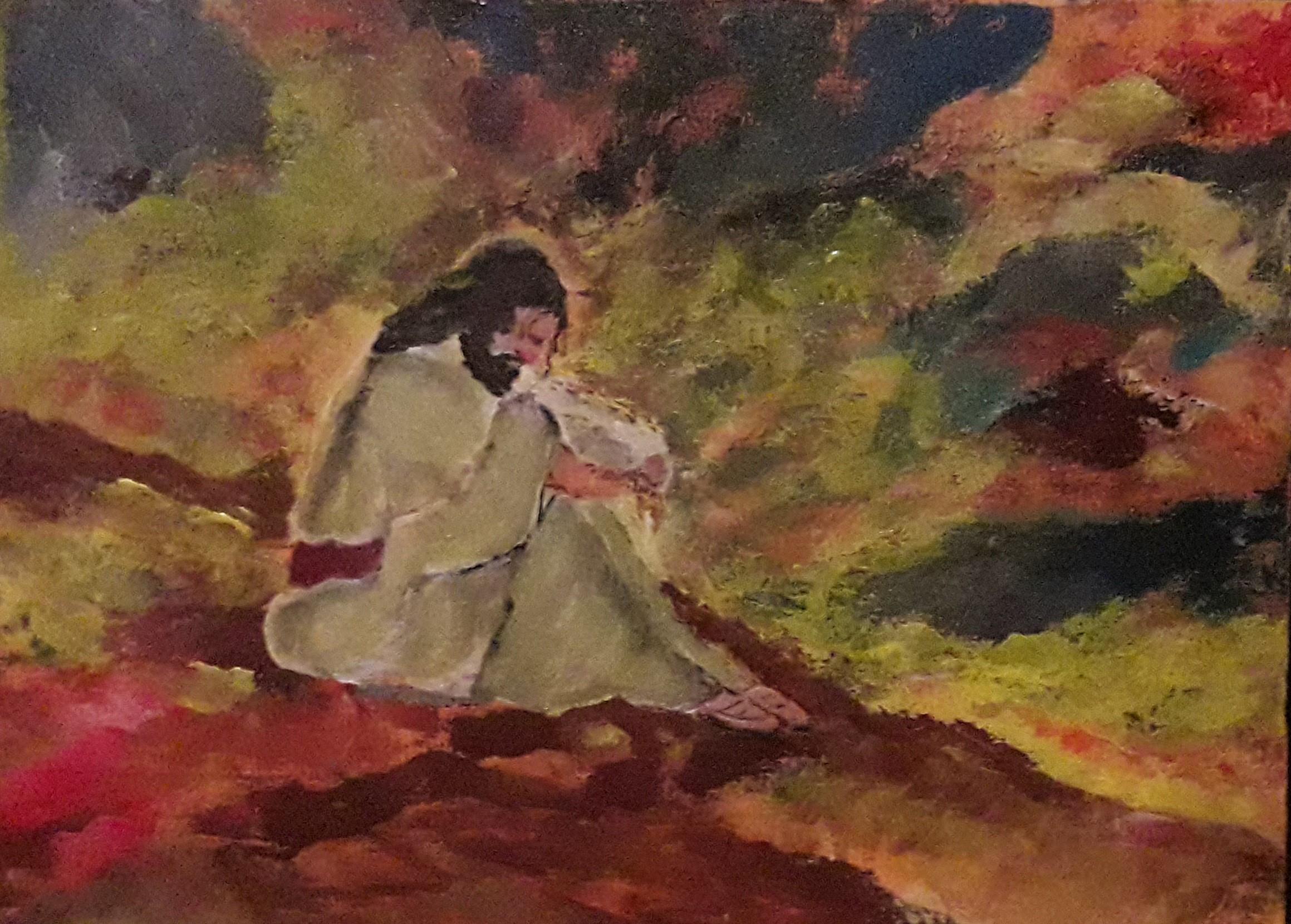 Jesus Prays in Gethsemane by Simpson David