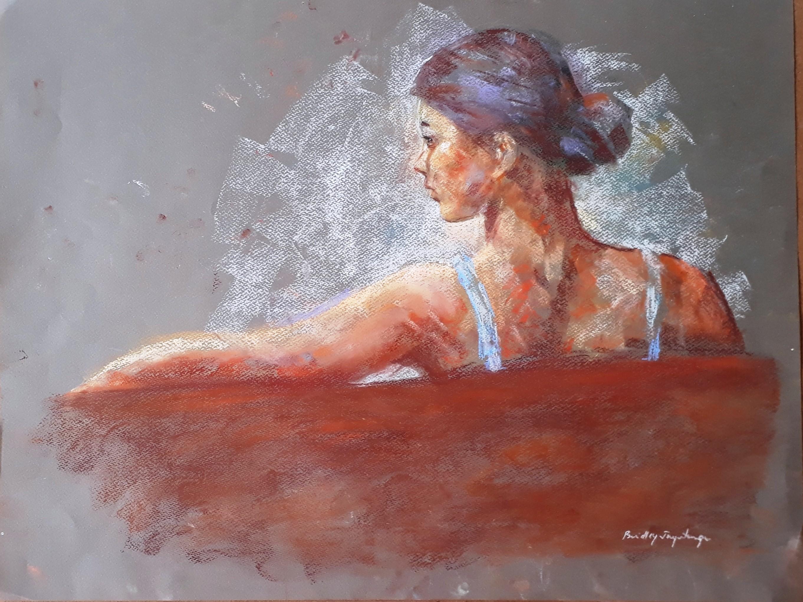 Pensive mood by Brindley Jayatunga