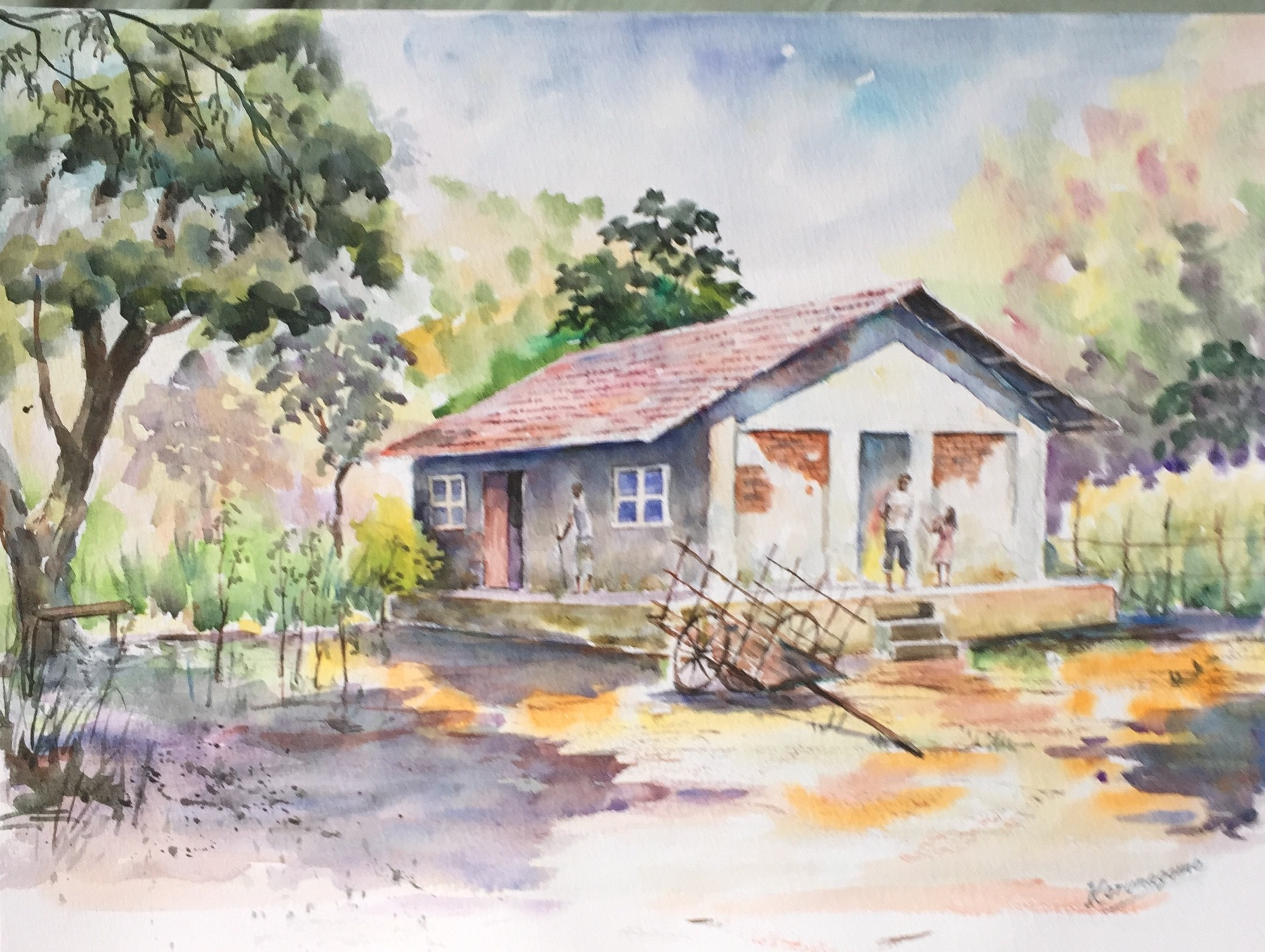 Cart before house by Sarath Karunagama