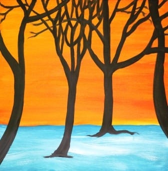 trees by the river by abesekara jayantha