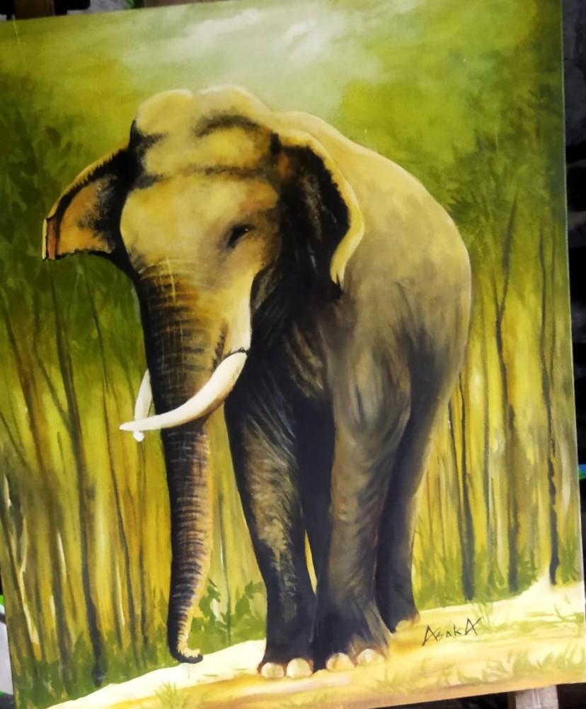 Canvas painting by Asoka weerasighe