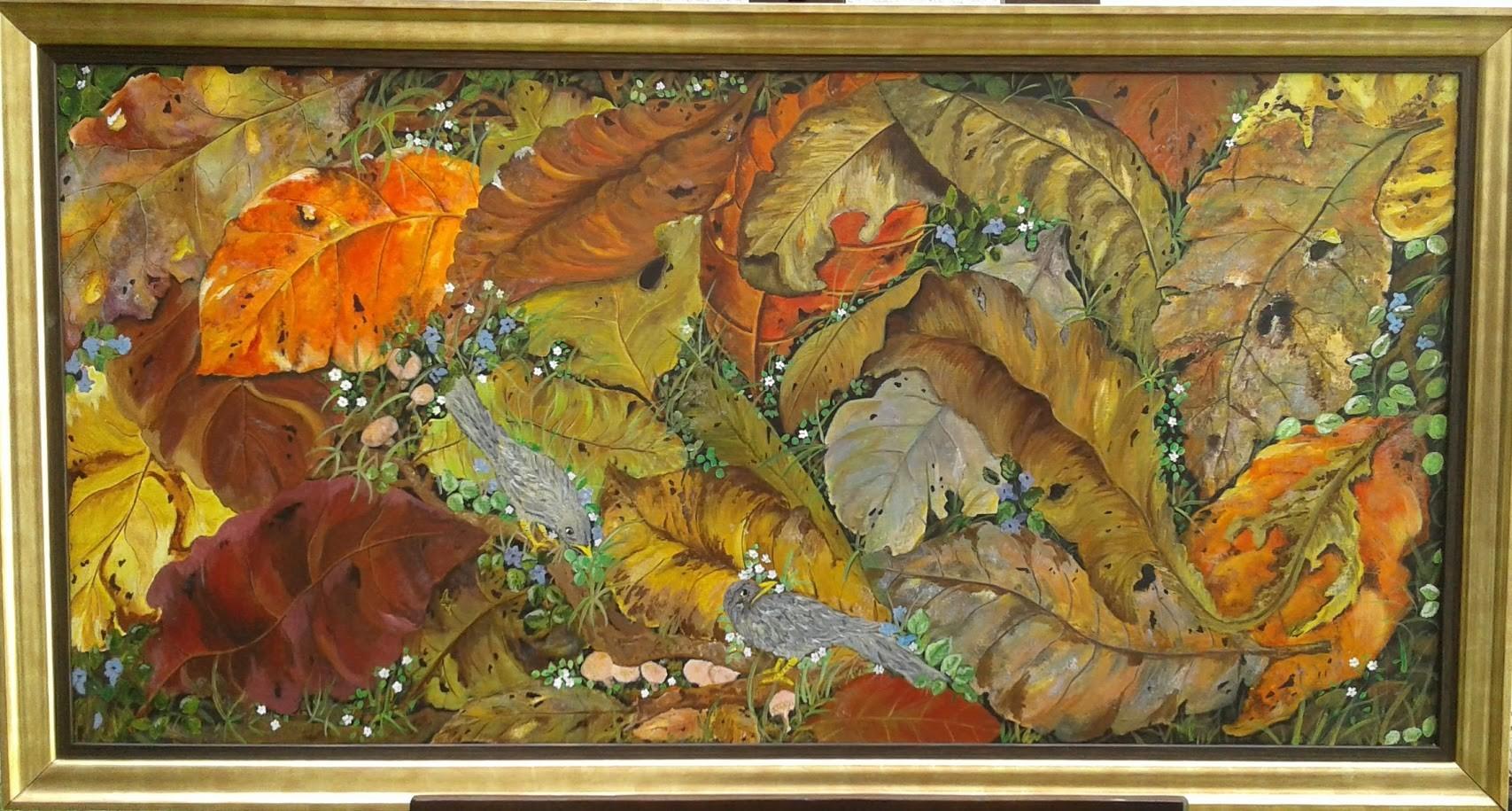 Freshly fallen leaves by Iranganie Wickramasinghe