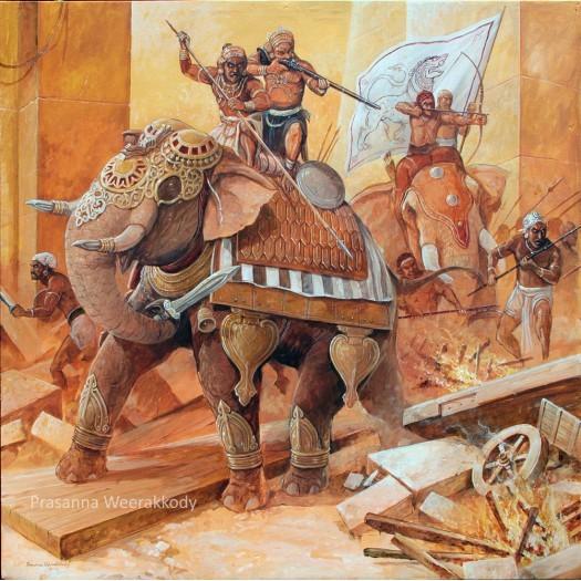 Attack of Sinhala War-Elephants by Prasanna Weerakkody