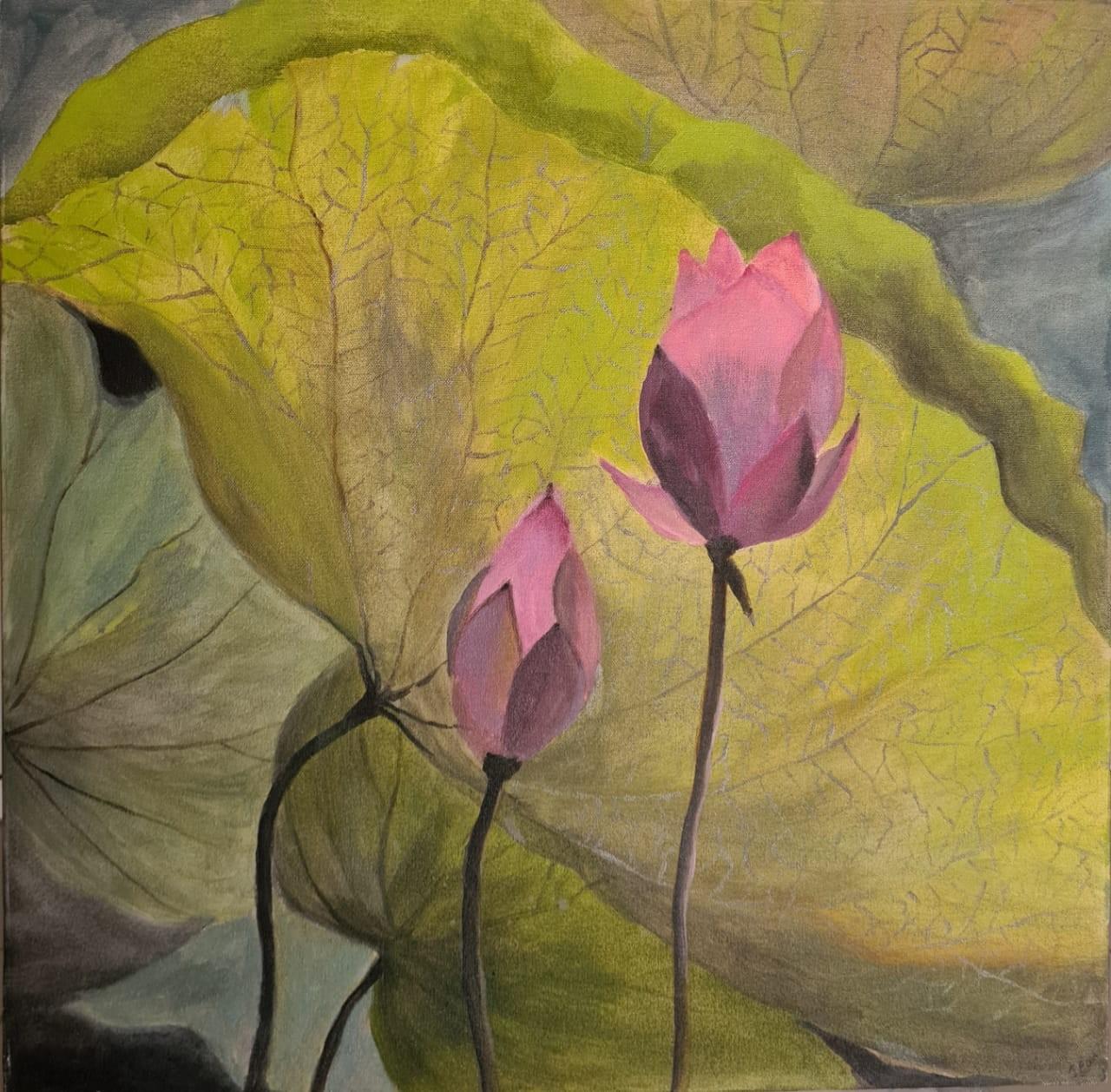 Blooming lotus by Jean wijesekera