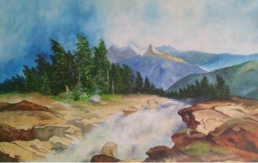 blue scenery by Fathima Haseena