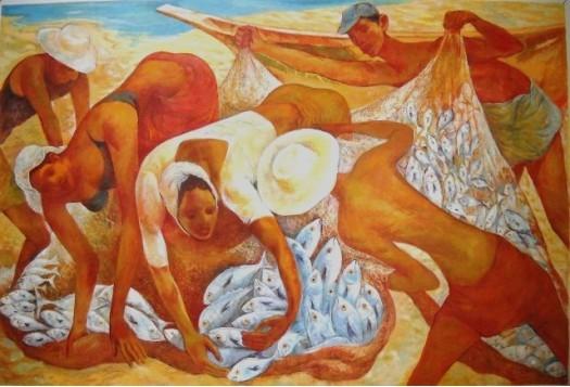 Fish collectors by Anura Dahanayaka