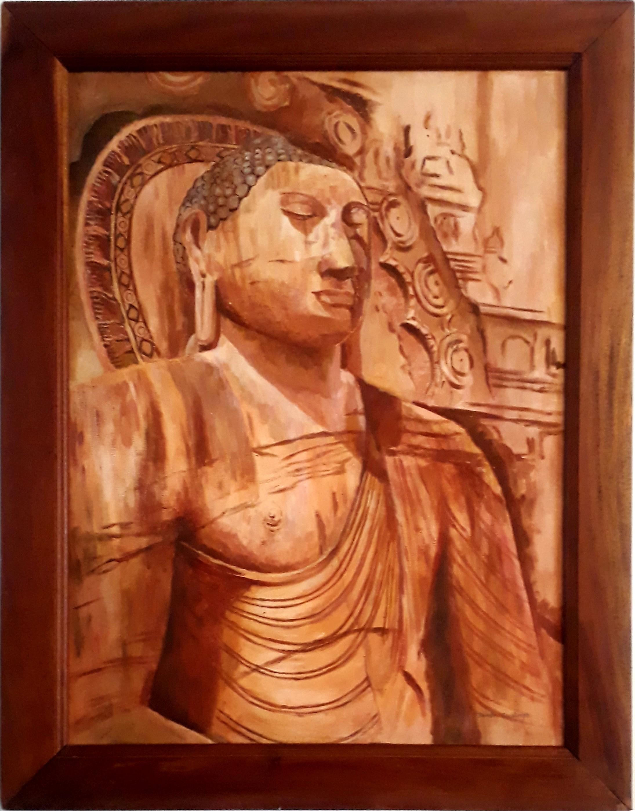 Gal vihara Buddha by Brindley Jayatunga