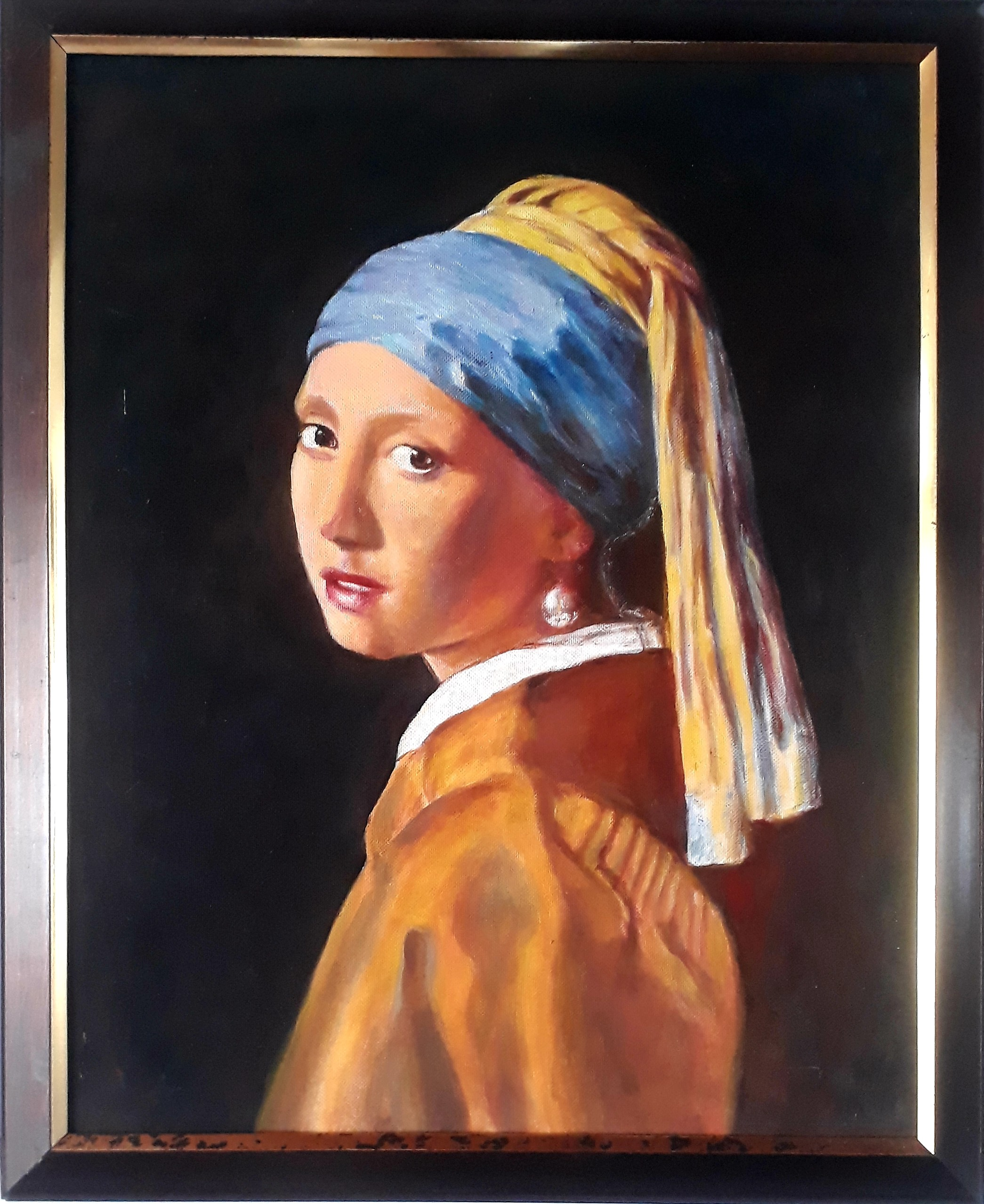 Girl with a pearl earring by Brindley Jayatunga