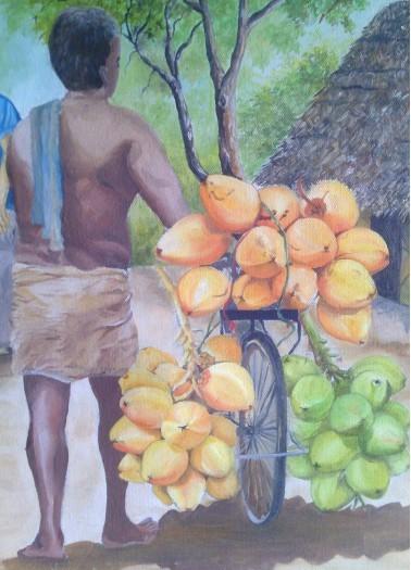 king coconut seller by Fathima Haseena