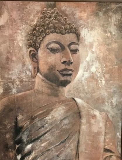 Lord buddha by Jean wijesekera