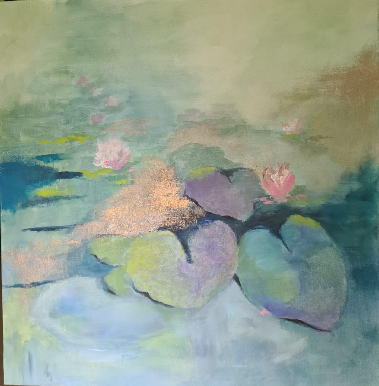 Lotus splendour 1 by Jean wijesekera