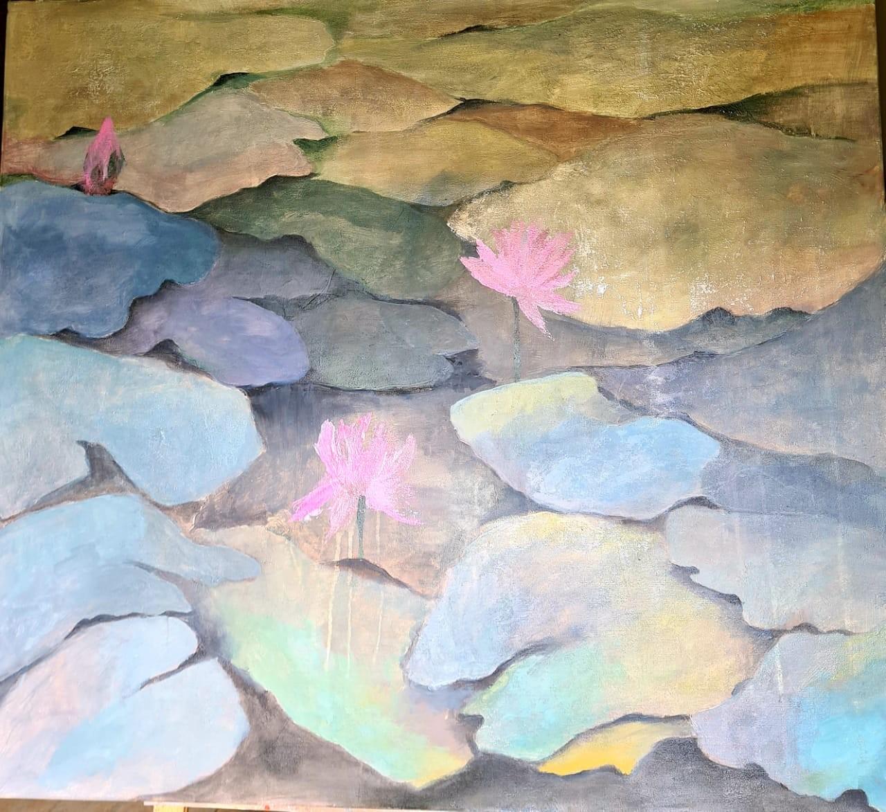 Lotus splendour 5 by Jean wijesekera