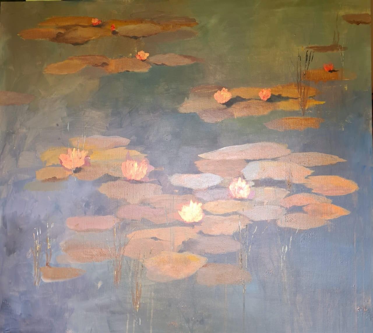 Lotus splendour 6 by Jean wijesekera