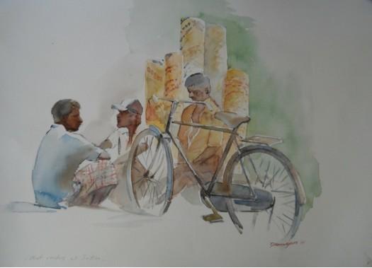 MAT SELLERS AT JAFNA by Anura Dahanayaka