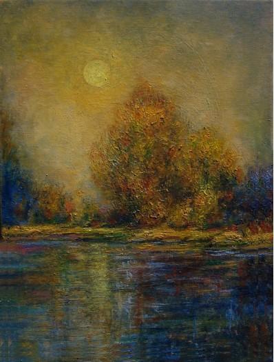 Moonlit Landscape by RAVINDRANATH JAYASEKERA