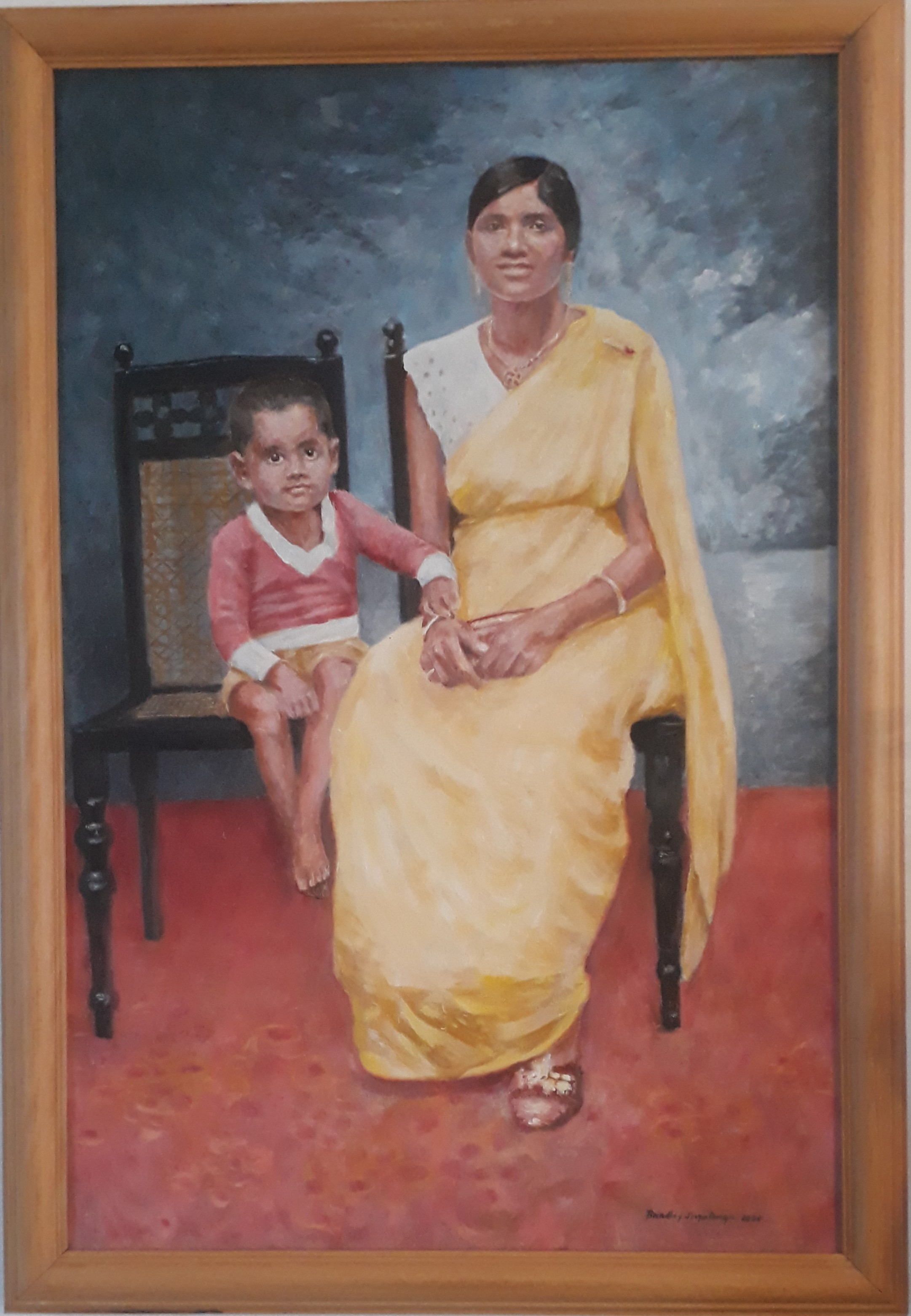 Mother and son by Brindley Jayatunga