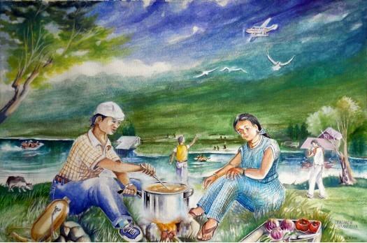 NUWARAELIYA PICNIC by Vasanth Warapitiya