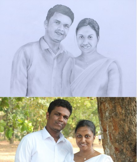 Pancil portrait drawing by Arunaka Ranga