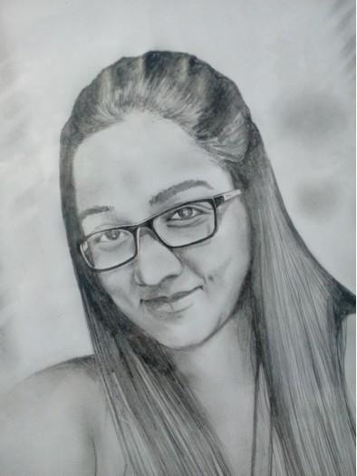 Pencil Portrait by Arunaka Ranga