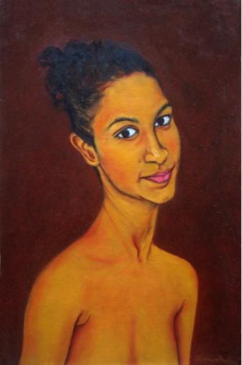 Portrait of a girl by RAVINDRANATH JAYASEKERA