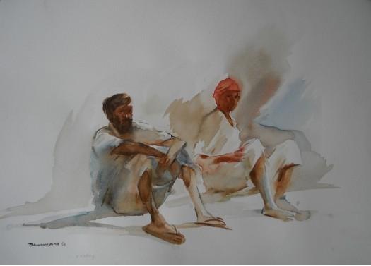 RESTING by Anura Dahanayaka
