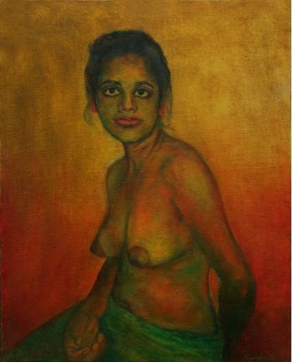 Seated Nude by RAVINDRANATH JAYASEKERA