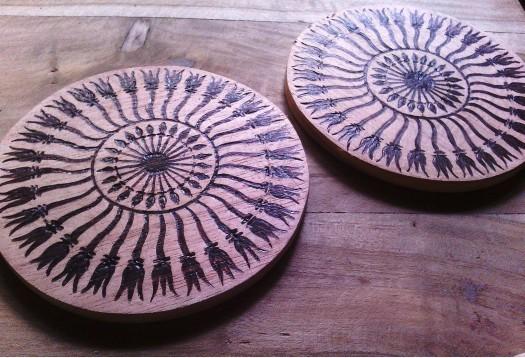 Table decoration Burn art by Arunaka Ranga