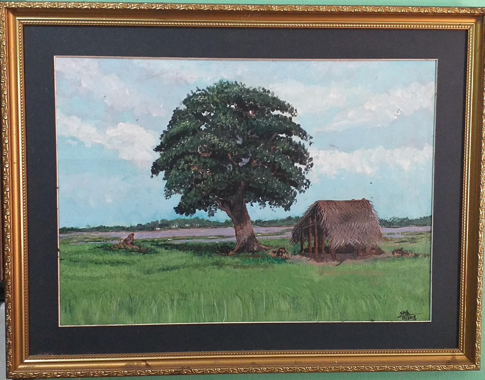 Tree and shelter by Shamali Wickramasinghe