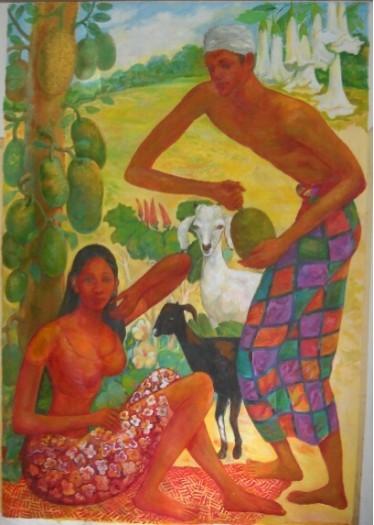 Village couple by Anura Dahanayaka