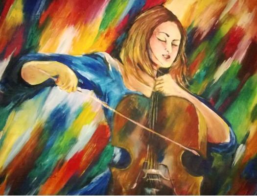 Violin player by Vishaka Kahawita