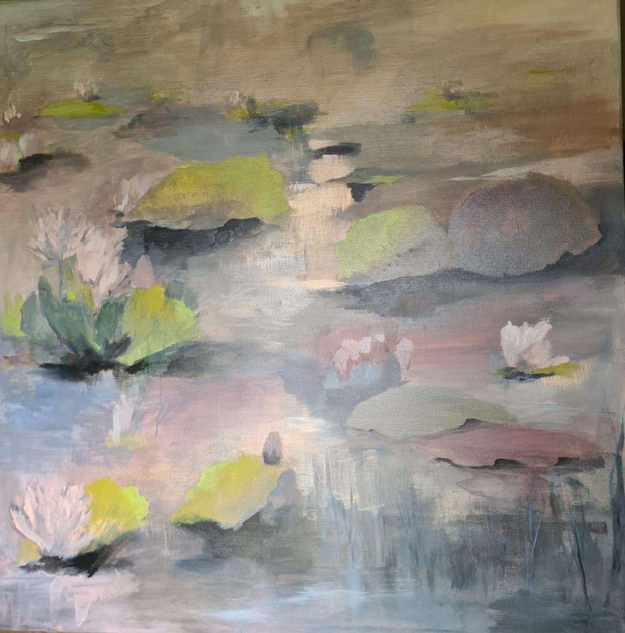 Water lilies at dusk by Jean wijesekera